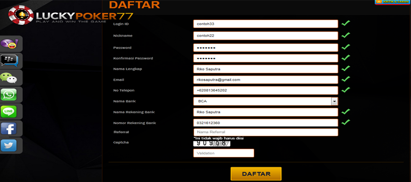 Cara Daftar Akun Poker Di Situs Poker Online